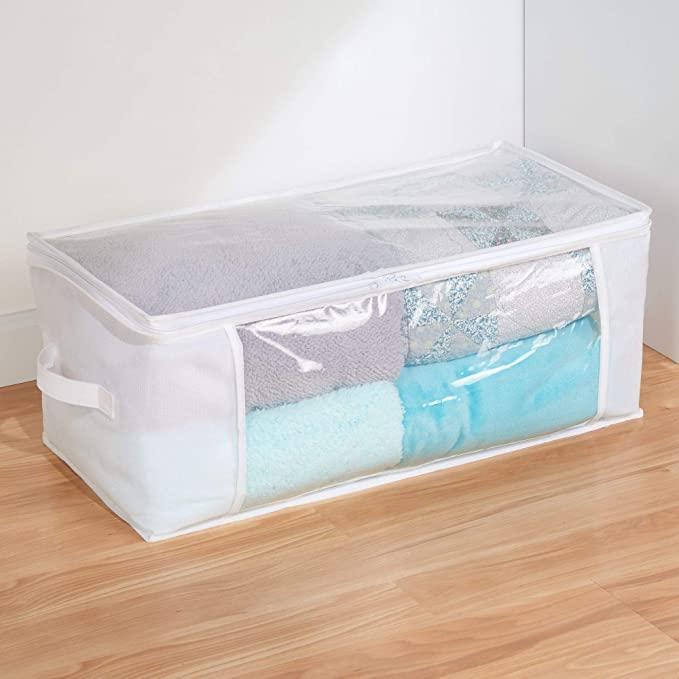 Caja de ropa con ventanas transparentes