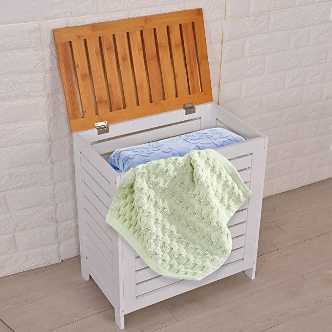 Cesto de ropa sucia moderno para baño