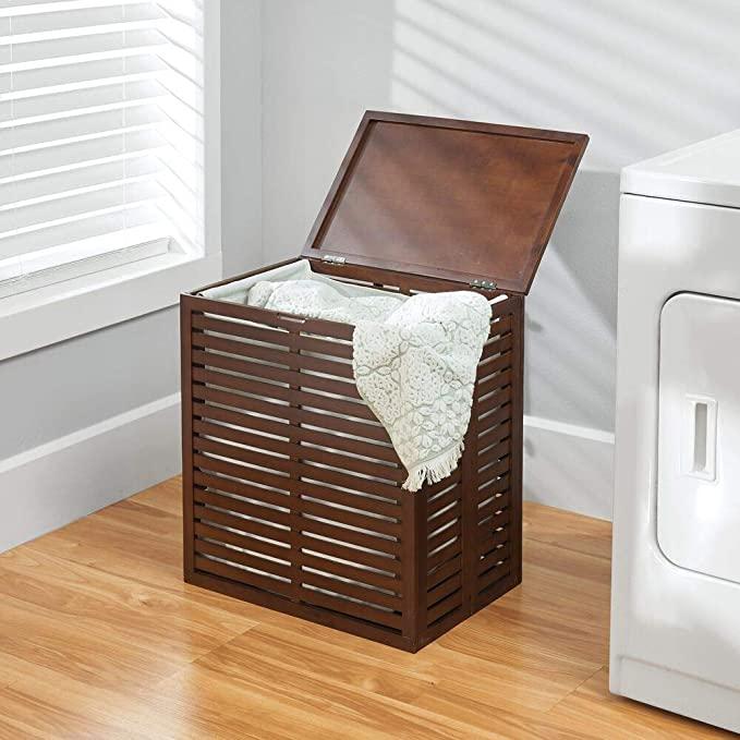 Cestos de ropa sucia modernos de madera